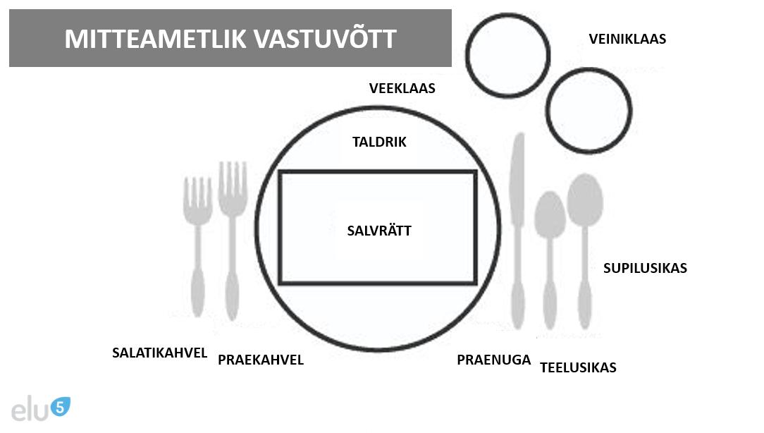 Elu5-mitteametliku vastuvõtu lauakatte etikett