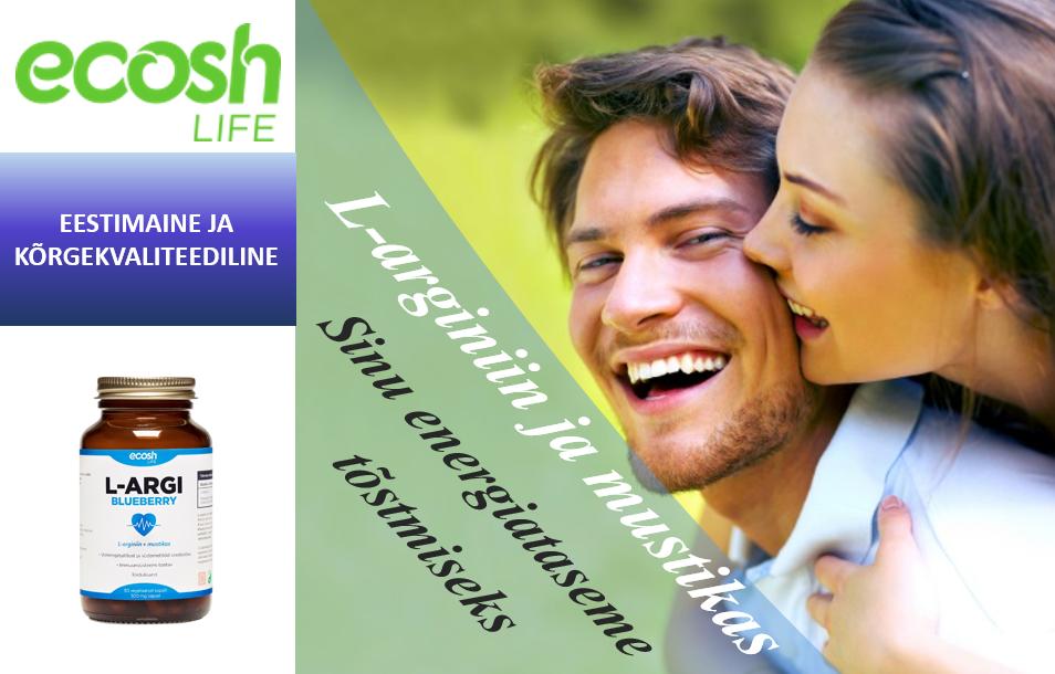 EcoshLife-L-arginiin toetab olulisi funktsioone organismis-energiataset-vereringetalitlust