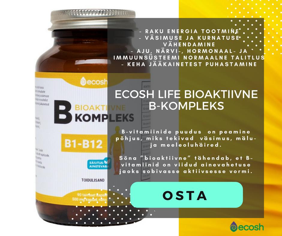 Ecosh - toodebioaktiivne-b-kompleks-b1-b12