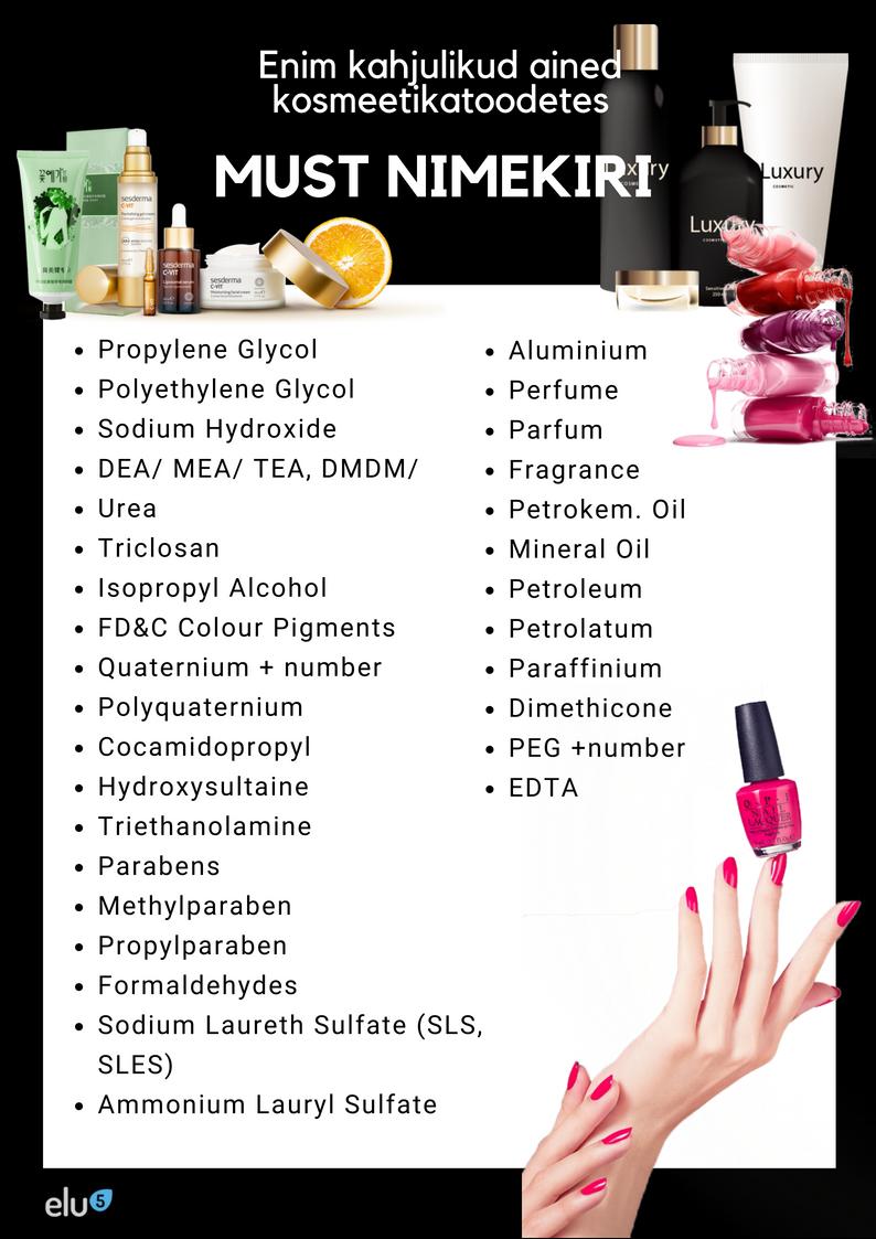 Elu5-Mürgiste ainete must nimekiri