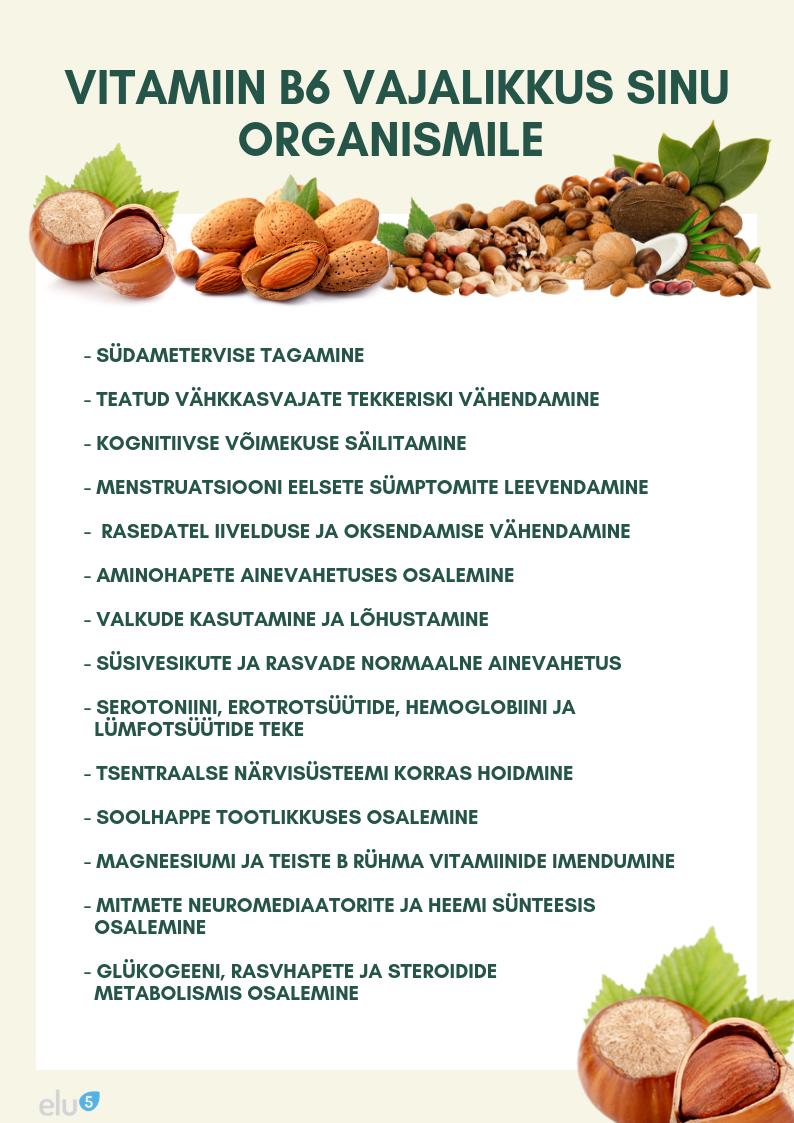 B vitamiini vajalikkus ja puudulikkus organismis